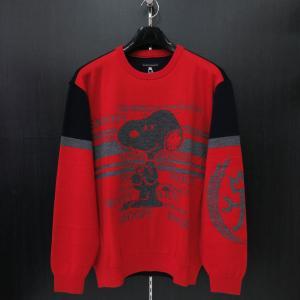 カステルバジャック スヌーピー丸首セーター 赤 50サイズ 21480-103-80 castelbajac Snoopy ニット|wanwan