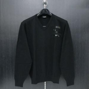 バラシ Vネックセーター 黒 52サイズ 2150-5024-20 barassi wanwan