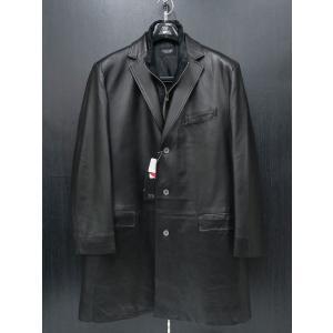 バラシ 本革ハーフコート 黒 50サイズ 2150-8081-20 barassi wanwan