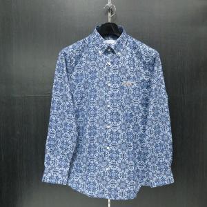カプリ 長袖ボタンダウンシャツ 紺/青 52 2231-1007-53-52 CAPRI|wanwan