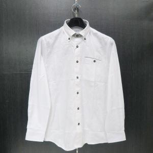 カプリ 長袖ボタンダウンシャツ 白 48/50 2231-1052-10 CAPRI|wanwan