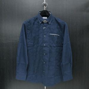 カプリ 長袖ボタンダウンシャツ 紺 48/50 2231-1052-53 CAPRI|wanwan