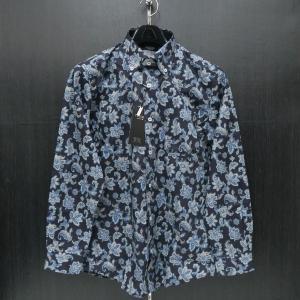 バラシ 長袖ボタンダウンシャツ ペイズリー柄紺 48/50サイズ 2250-1013-53 barassi wanwan