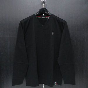 バラシ 長袖VネックTシャツ 黒 50サイズ 2250-2052-20 barassi wanwan