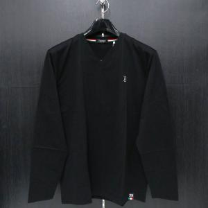 バラシ 長袖VネックTシャツ 黒 52サイズ 2250-2052-20 barassi wanwan
