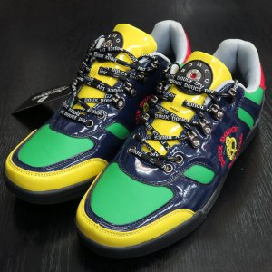 デュークスデューチェ 合皮スニーカー 紺/黄/緑/赤 317197-99 DOUX DOUCE|wanwan