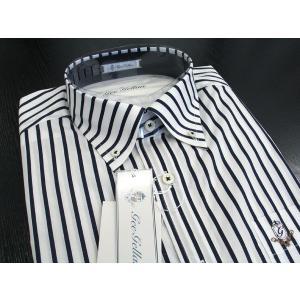 ゲラン 半袖ボタンダウンシャツ 紺 4210-1501-53 GEE GELLAN|wanwan