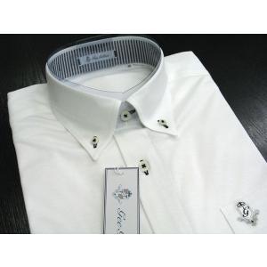 ゲラン 半袖天竺ボタンダウンシャツ 白 4210-1504-10 GEE GELLAN|wanwan