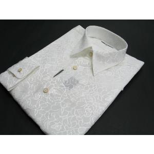 丸恵 レギュラーカラードレスシャツ  白 4631-1 wanwan