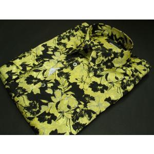 丸恵 ドレスシャツ 黒/黄色 4635-1|wanwan
