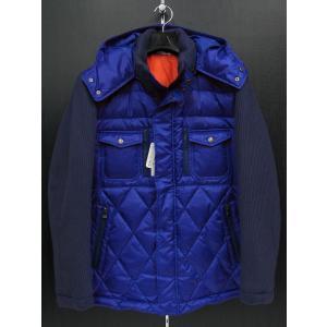 サンタフェ パーカー付きダウンジャケット ブルー 52802-095 santaFe|wanwan