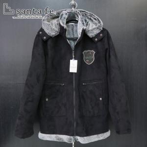 SALE50%OFF サンタフェ フェイクムートンハーフブルゾン 黒 52サイズ 54183-019 santaFe|wanwan