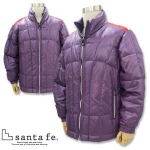 サンタフェ リバーシブルダウンジャケット 紫 54807-087 santaFe|wanwan