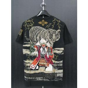 楽土 半袖Tシャツ 黒 54825-15 Rad Swinger|wanwan