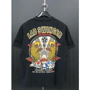 楽土 半袖Tシャツ 黒 54835-15 Rad Swinger|wanwan
