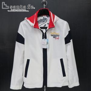 サンタフェ メッシュパーカー付きブルゾン 白 50サイズ 55404-001 santaFe|wanwan