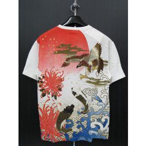 楽土 半袖Tシャツ 白 55803-05 Rad Swinger|wanwan