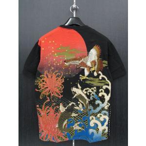楽土 半袖Tシャツ 黒 55803-15 Rad Swinger|wanwan