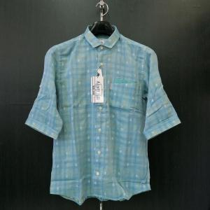 アルコット ヒル 半袖シャツ ブルー 61-2003-10-85 Alcott hill|wanwan