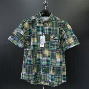 アルコット ヒル 半袖ボタンダウンシャツ 緑/紺/黄色/白 61-2101-10-97 Alcott hill|wanwan