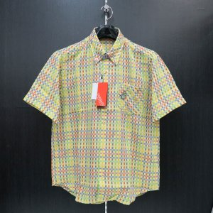 アンジェロ 半袖シャツ 黄色/青/緑/赤 63-2162-03-95 ANGELO GARBASUS|wanwan