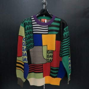 アンジェロガルバス セーター 緑/黒/赤 LL 65-7001-03-75 ANGELO GARBASUS wanwan