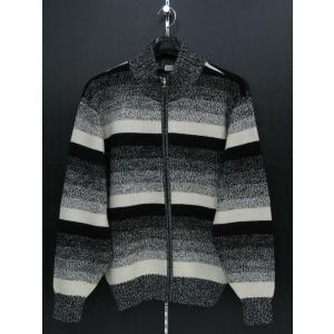 ジーゲラン フルジップセーター 黒/白/グレー L 7110-3445-21-48 GEE GELLAN|wanwan