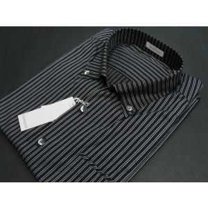 ゲラン 半袖ボタンダウンシャツ 黒/白 7310-1519-21 GEE GELLAN|wanwan