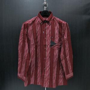 パジェロ 長袖ボタンダウンシャツ 赤/エンジ 75-1160-07-69 PAGELO|wanwan