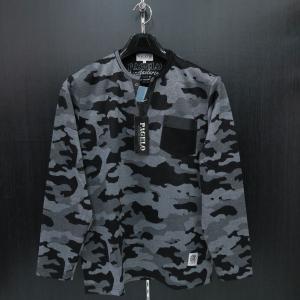 パジェロ 長袖Tシャツ グレー/黒 75-1501-07-05 PAGELO|wanwan