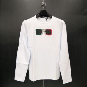 ウザリス ラインストーン長袖Tシャツ 白 L/LL/3Lサイズ 75-1512-60-01 USUALIS|wanwan