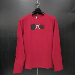 ウザリス ラインストーン 長袖Tシャツ 赤 LLサイズ 75-1512-60-65 USUALIS|wanwan