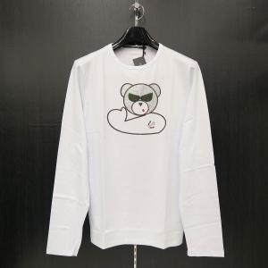 ウザリス ラインストーン長袖Tシャツ 白 3L/4Lサイズ 75-1517-60-01 USUALIS|wanwan