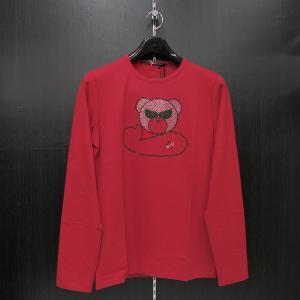 ウザリス ラインストーン 長袖Tシャツ 赤 LLサイズ 75-1517-60-65 USUALIS|wanwan