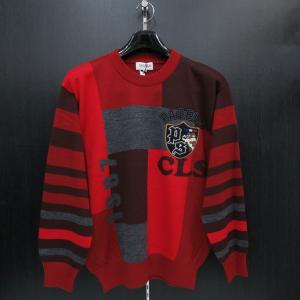 パジェロ セーター 赤 75-7009-07-69 PAGELO|wanwan