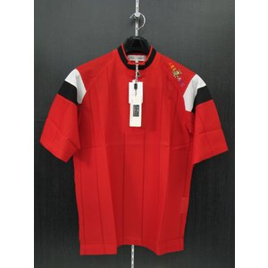 アンジェロガルバス 半袖ハーフジップTシャツ 赤 81-2302-06 ANGELO GARBASUS|wanwan