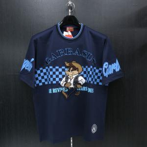 アンジェロ 半袖Tシャツ 紺 81-2503-03-49 ANGELO GARBASUS|wanwan