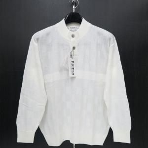 パジェロ セーター ニット 白 M/L/LLサイズ 長袖 PAGELO 81-7801-07-01 wanwan