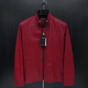 バラシ 本革ブルゾン 赤 46サイズ 8150-3083-60 barassi|wanwan