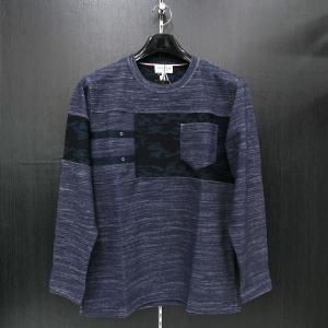 パジェロ 長袖Tシャツ L/LL 紺 PAGELO 85-1503-07-47|wanwan