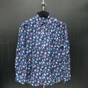 パジェロ 長袖ボタンダウンシャツ 紺 L/LL 91-1117-07-49 PAGELO|wanwan