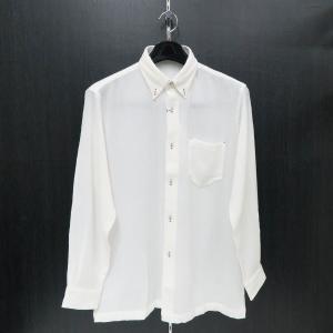 パジェロ 長袖ボタンダウンシャツ 白 L/LL91-1119-07-01  PAGELO|wanwan