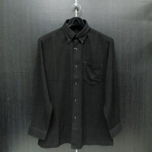 パジェロ 長袖ボタンダウンシャツ 黒 L/LL 91-1119-07-05  PAGELO|wanwan