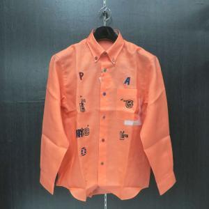 パジェロ 長袖ボタンダウンシャツ オレンジ L/LL 91-1126-07-63 PAGELO|wanwan