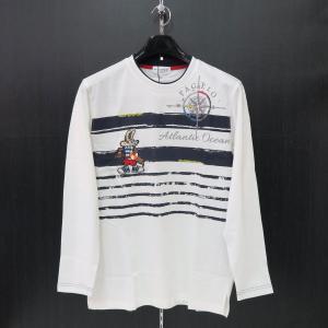 パジェロ 長袖Tシャツ 白 M/L/LL 91-1580-07-01 PAGELO|wanwan