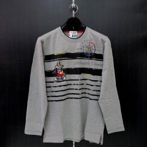 パジェロ 長袖Tシャツ グレー M/L/LL 91-1580-07-35 PAGELO|wanwan