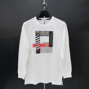 パジェロ 長袖Tシャツ 白 M/L/LL 91-1581-07-01 PAGELO|wanwan