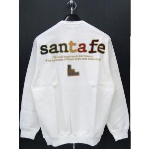 サンタフェ 定番バックアップリケトレーナー 白 91111-001 santafe 50(LLサイズ)|wanwan
