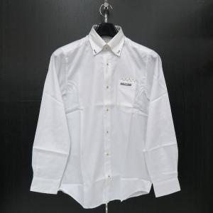 バジエ 長袖ボタンダウンシャツ 白 9120-1001-10 VAGIIE|wanwan