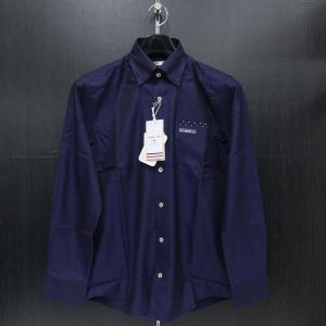 バジエ 長袖ボタンダウンシャツ 藍色 9120-1001-53 VAGIIE|wanwan
